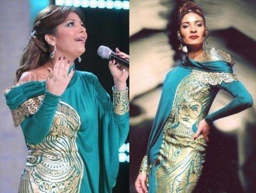 Assala Nasri dressed by Nicolas Jebran